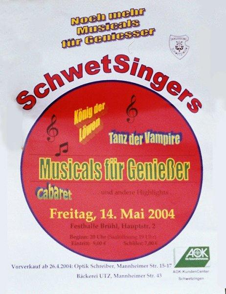 2004: Noch mehr Musicals für Genießer