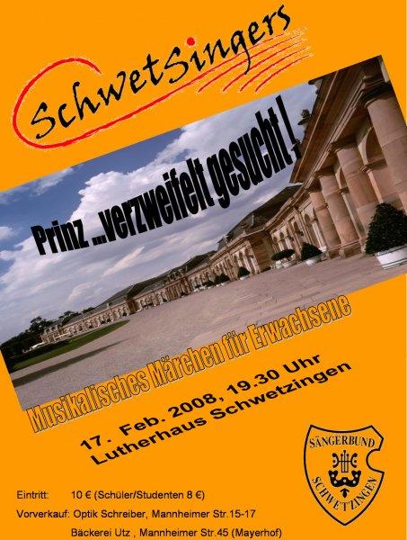2008: Prinz verzweifelt gesucht! (Zusatzkonzert)