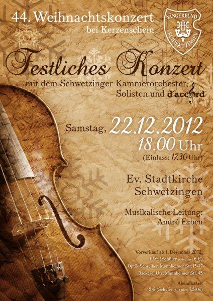 2012: 44. Weihnachtskonzert bei Kerzenschein