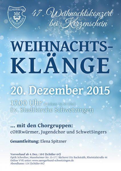 2015: 47. Weihnachtskonzert bei Kerzenschein
