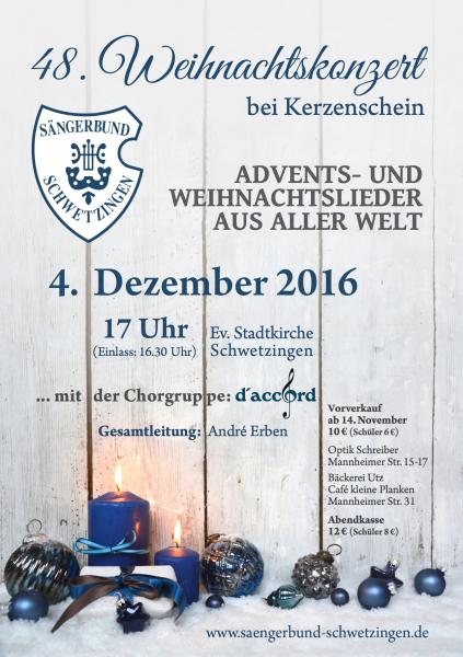 2016: 48. Weihnachtskonzert bei Kerzenschein