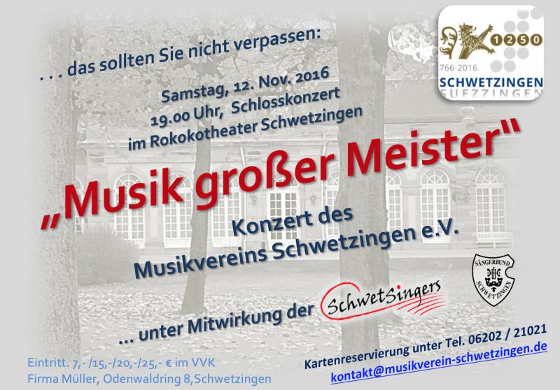 2016: Musik großer Meister