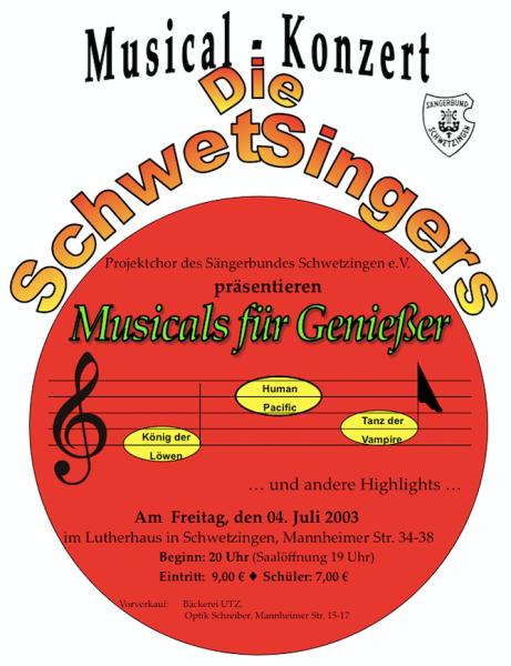 2003: MfG – Musicals für Genießer