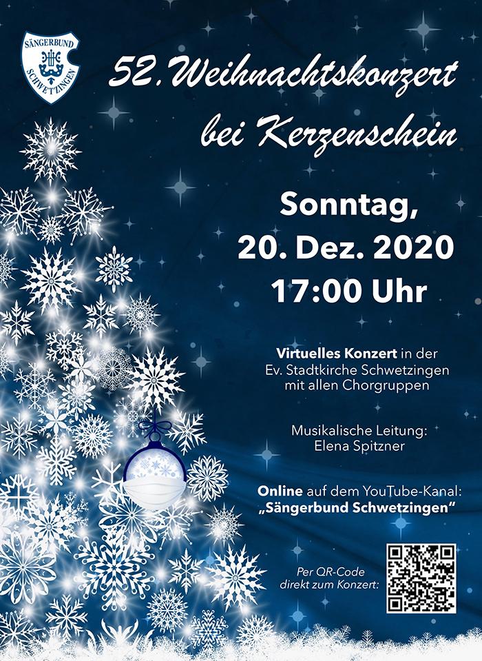 2020: 52. Weihnachtskonzert bei Kerzenschein